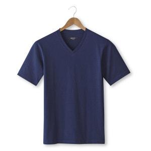 Tee shirt col v uni, manches courtes CASTALUNA FOR MEN