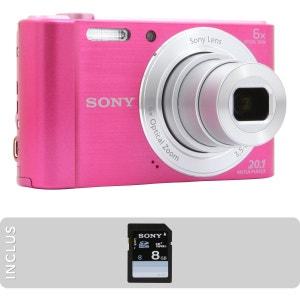 Appareil photo Compact SONY Pack DSC-W810 Rose + SD 8Go SONY