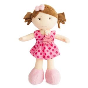 Les Petites Demoiselles : Poupée robe rose pois fuchsia DOUDOU ET COMPAGNIE