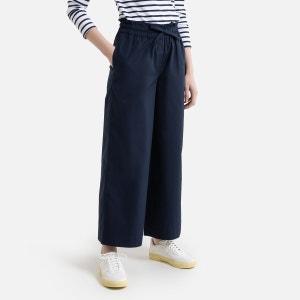 Rechte broek met elastische tailleband