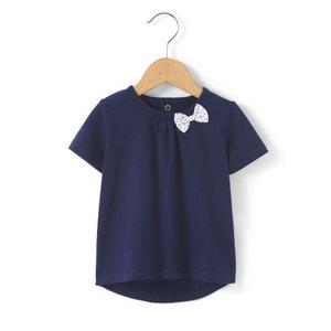 T-shirt com detalhe laço, 1 mês-3 anos R essentiel