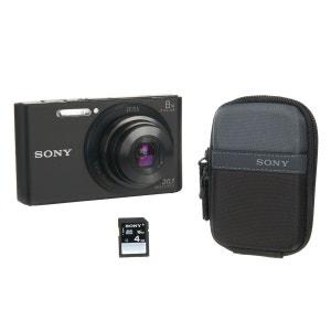 Appareil photo compact SONY Pack DSC-W830 noir + Etui + SD 4Go SONY