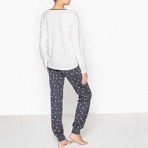 Pijama com estampado gato, em algodão La Redoute Collections