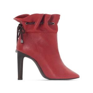 Boots cuir serrées à la cheville La Redoute Collections