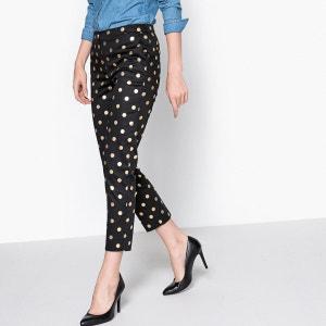 Pantalon slim à pois La Redoute Collections