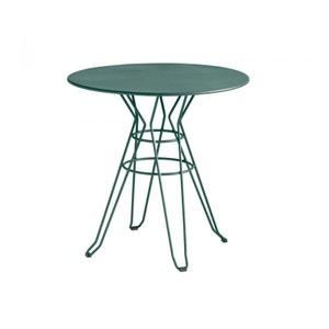 Table de jardin design métal ronde Ø90cm Alameda DRAWER