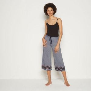 Pantalon en chambray brodé MONOPRIX