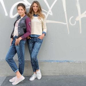 Snake Print Skinny Jeans with Adjustable Waist R teens