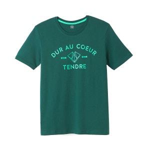 T-shirt col rond, motif imprimé, Slub La Redoute Collections