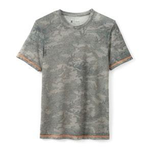 T-shirt imprimé camouflage col rond La Redoute Collections