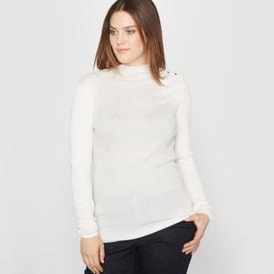 Sweter z golfem, żeberkowy splot CASTALUNA