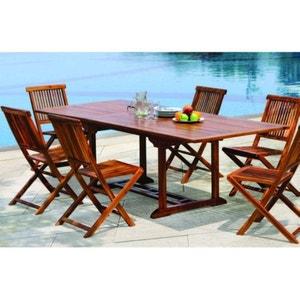Table de jardin en teck huilé rectangle extensible 180/240x100x75 MACAO PIER IMPORT