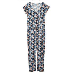 Macumba Short-Sleeved Printed Jumpsuit BLUNE