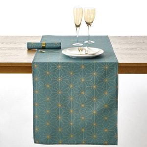 Chemin de table Noel Nordic Star, imprimé coloris or. La Redoute Interieurs