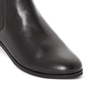 Boots in pelle a pianta larga 38-45 CASTALUNA