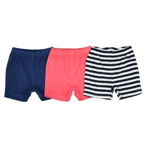 Lot de 3 shorts éponge 1 mois - 3 ans La Redoute Collections