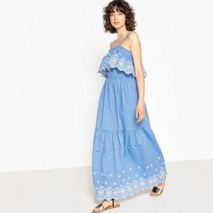 Vestido liso, evasé e largo, comprimento médio, 3/4 La Redoute Collections