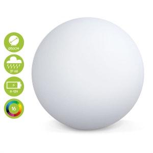 Boule lumineuse LED Ø 50cm 16 couleurs étanche  recharge sans fil avec télécommande ALICE S GARDEN