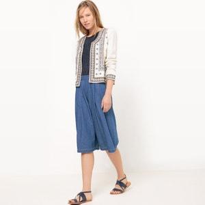Jupe culotte, coupe large, unie R studio