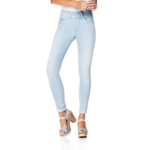 Jeans taille haute avec détails en cuir SALSA