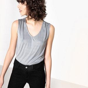 Ärmelloses T-Shirt, drapiert La Redoute Collections