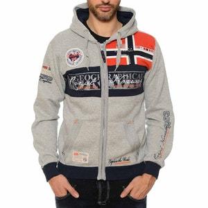 Sweater met kap en motieven GEOGRAPHICAL NORWAY