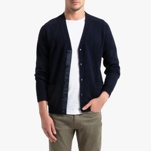 Vest met knoopsluiting in lambswool, Philippe