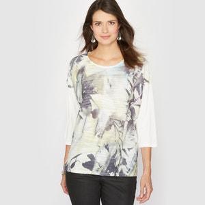 Shirt, bedruckt, Materialmix ANNE WEYBURN