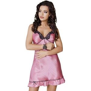 Samantha Chemise de Nuit à Pois - Rose et Noire IRALL