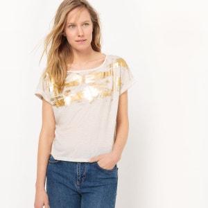 Tee-shirt brillant, lin R studio