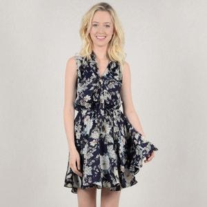 Wijd uitlopende korte jurk met bloemenprint MOLLY BRACKEN