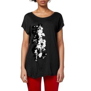 T-shirt con scollo rotondo fantasia grafica ESPRIT