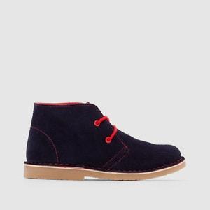 Boots, Spaltleder, bunte Schnürsenkel R essentiel
