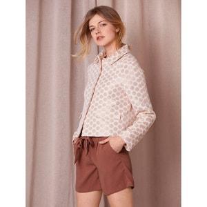 Jacke aus schönem Stretch-Jacquard MADEMOISELLE R