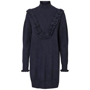 Gerades Kleid mit langen Ärmeln, unifarben VERO MODA