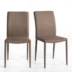 Chaise tissu, Bitume (lot de 2) AM.PM