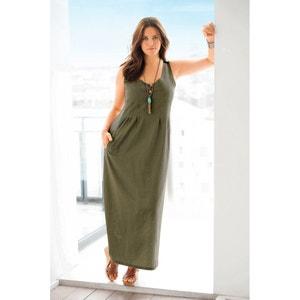 Lange jurk in linnen/katoen CASTALUNA