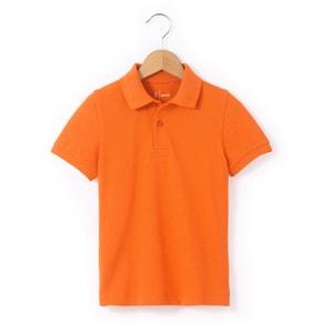 Plain Cotton Piqué Polo Shirt: 3-12 Years R essentiel