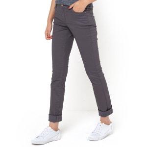 Pantalón recto 5 bolsillos, algodón stretch con revestimiento La Redoute Collections