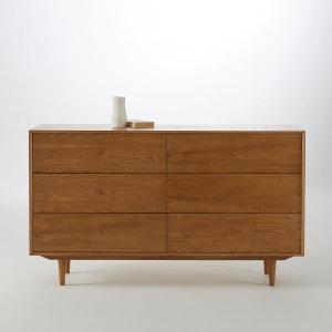 Commode vintage en chêne, 6 tiroirs, Quilda La Redoute Interieurs
