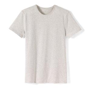 Camiseta con cuello redondo jaspeado 100% algodón R essentiel