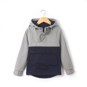 Cazadora bicolor estilo sobrecamisa con capucha 3-12 años abcd'R