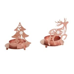 Photophore de Noël en métal cuivré (Lot de 2) AUBRY GASPARD