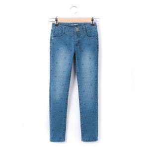 Slim-Fit-Jeans für Mädchen, 3-12 Jahre, getupft R essentiel