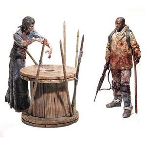 The Walking Dead TV Version Deluxe Box pack 2 figurines Morgan & Walker 13 cm Serie 8 MC FARLANE