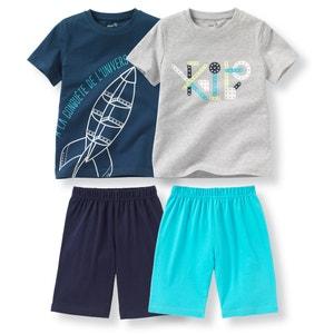Pijama curto em algodão, 2-12 anos (lote de 2) R édition