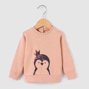 """Свитшот с рисунком """"пингвин"""",  1 мес.-3 лет La Redoute Collections"""