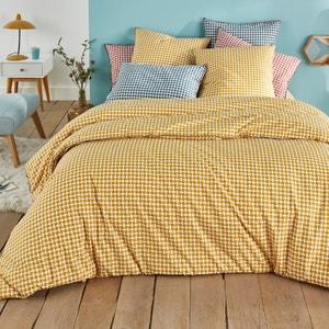 Yellow Tie Print Cotton Percale Duvet Cover La Redoute Interieurs