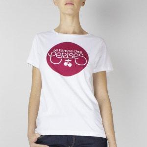 Tee shirt col rond, manches courtes LE TEMPS DES CERISES