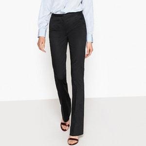 Pantaloni bootcut satin di cotone La Redoute Collections